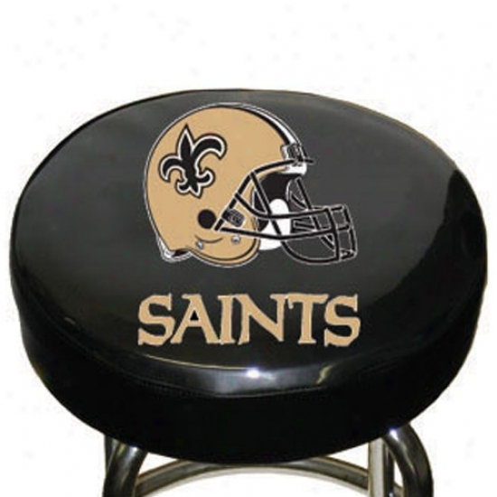 New Orleans Saints Black Team Lgo Bar Stool Cover