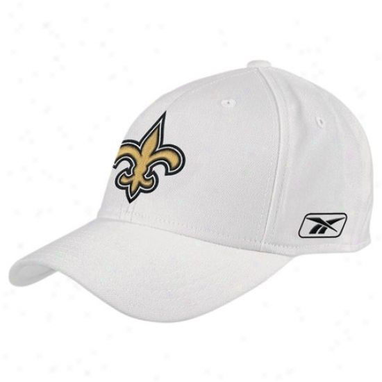 New Orleans Saints Hat : Reebok New Orleane Saints White Coaches Flex Hat