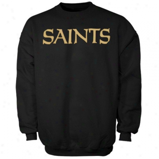 New Orleanss Saints Hoodies : New Orleans Saints Black Classic Crew Iii Hoodies