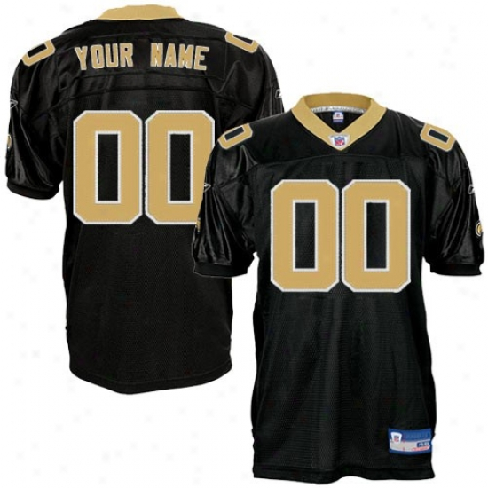 New Orleans Saints Jersey : Reebok Nfl Equipment New Orleans Saints Black Authentic Customized Jersey