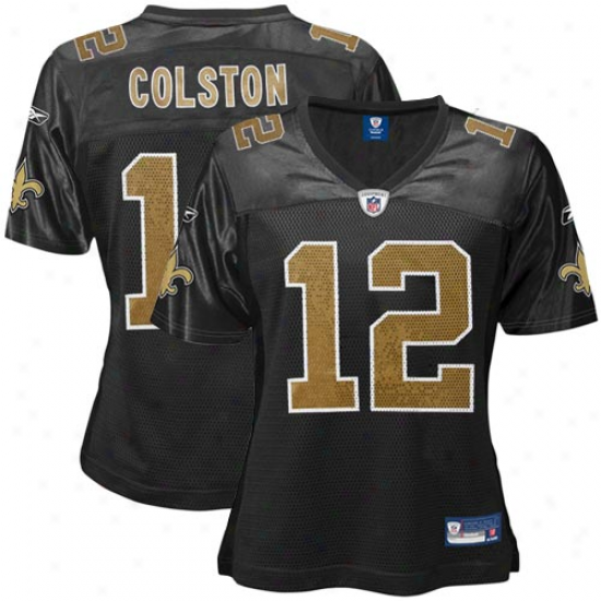 New Orleans Saints Jerseys : Reebok Marques Colston New Orleans Saints Women's Replica Jerseys - Black