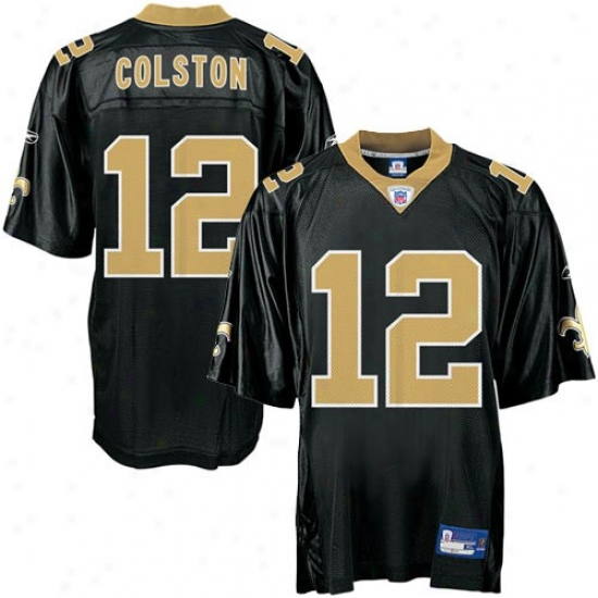 New Orleans Saimts Jerseys : Reebok Nfl Equipment New Orleans Saints #12 Marques Colston Black Replica Football Jerseys