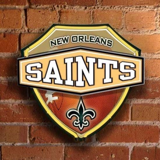 New Orleans Saints Neon Shield Wall/window Lam;