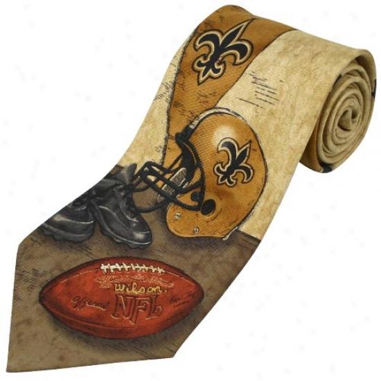 New Orleans Saints Nostalgia Tie
