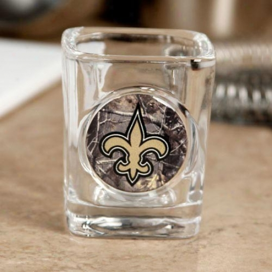 New Orleans Saints Realtree Camo 2 Oz. Square Shot Glass