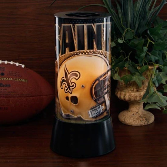 New Orleans Saints Rotaating Lamp