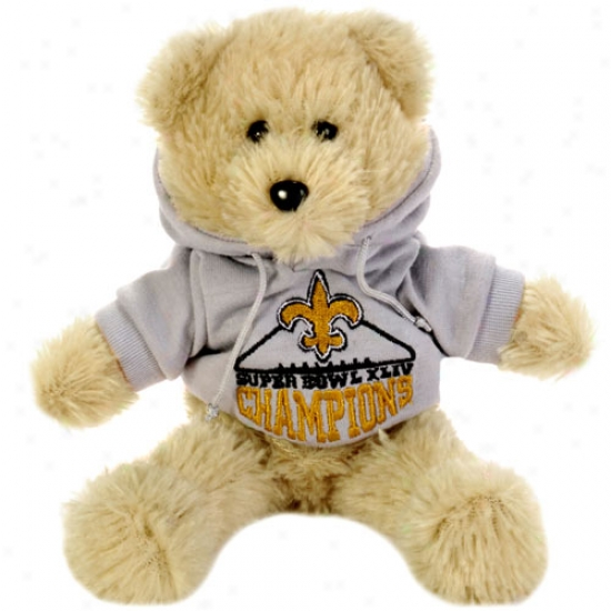 """new Orleanss Saints Super Bowl Xliv Champions 8"""" H0ody Bear"""