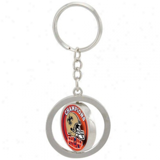 New Orleans Saints Super Bowl Xliv Champions Spinner Keychain