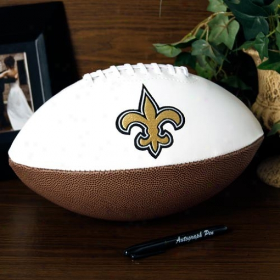 Just discovered Orleans Saints Super Bowl Xliv Champions Official Full Size Auttograph Football