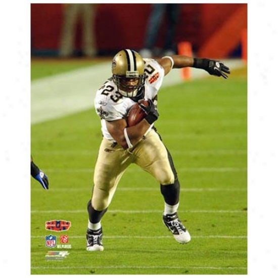 """new Orleans Saints Super Bowl Xliv Champions #23 Pierre Thomas Action 11"""" X 14"""" Matted Photo"""