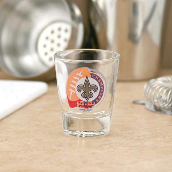 New Orleans Saints Super Bowl Xliv Champions 2oz. Clear Shot Glass