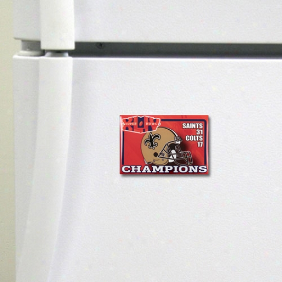 """new Orleans Saints Super Bowl Xliv Champions 2"""" X 3"""" Magnet"""