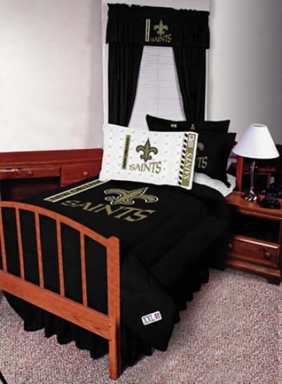 New Orleans Saints Twin Size Bed Skirt