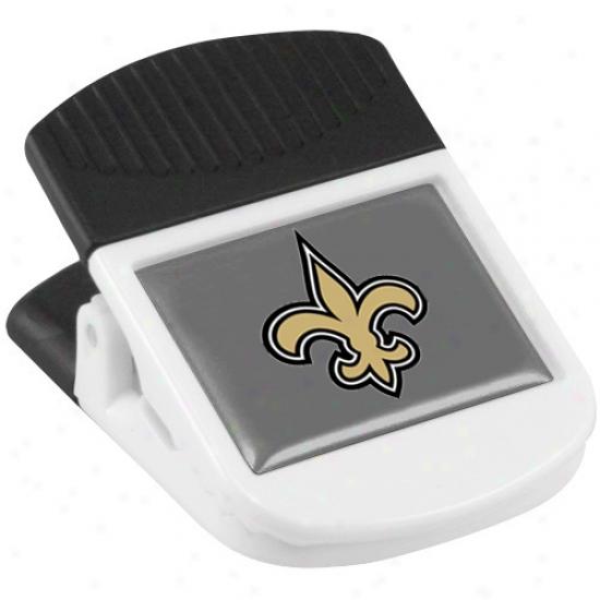 New Orleans Saints White Magnetic Chip Clip