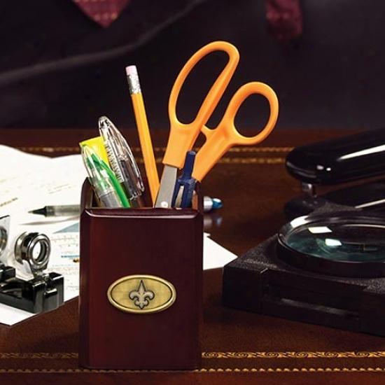 New Orleans Saints Wooden Pencil/accessories Cup