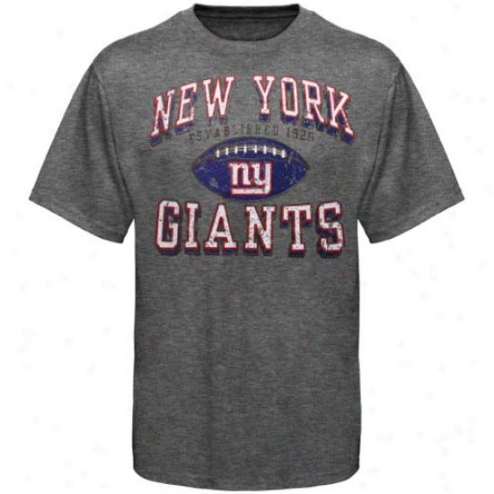 New York Giant Apparel: New York Giant Ash Regular Season Tri-blend T-shirt