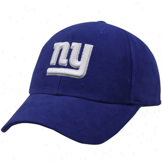 New York Giant Cap : Reebok New York Giant Royal Blue Brushed Cotton Adjutable Cap