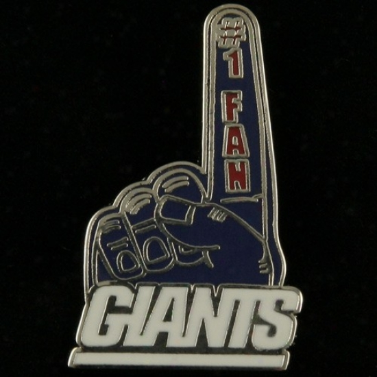 New York Giant Cardinal's office : New York Giant #1 Fan Pin