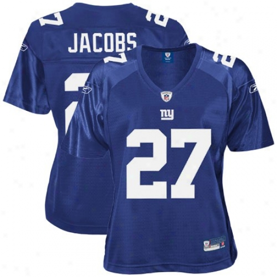 New York Giant Jerseys : Reebok Brandon Jacobs New York Giant Women's Replica Jerseys - Royal Blue