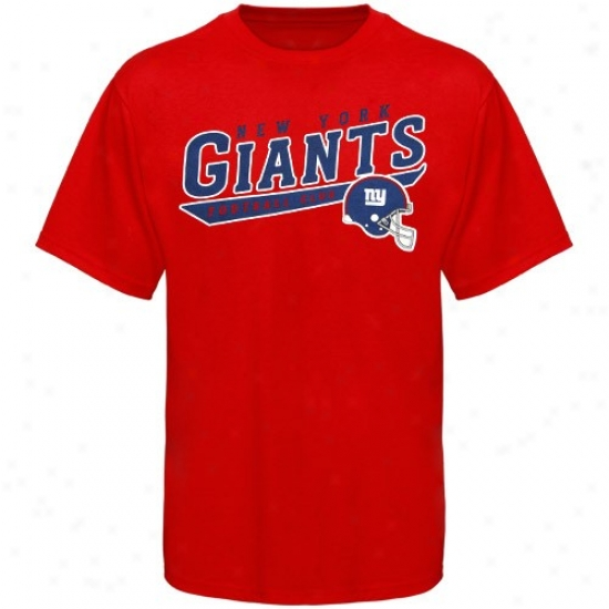 New York Giant Shirt : Rrebok New York Giajt Red The Call Is Tails Shirt