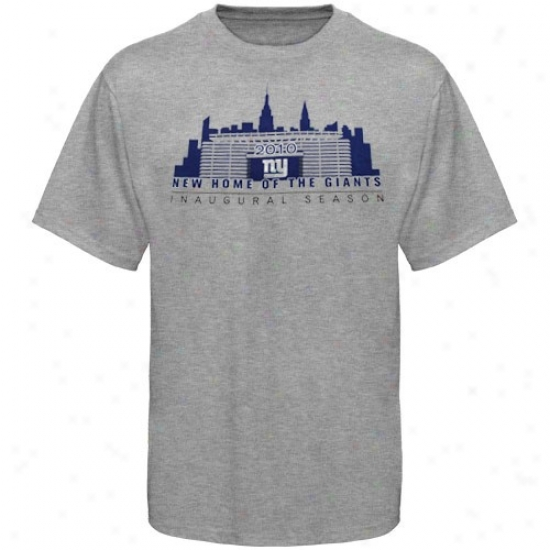 New York Giant Tee : Reebok New York Monster Ash Inaugural Stadium Tee