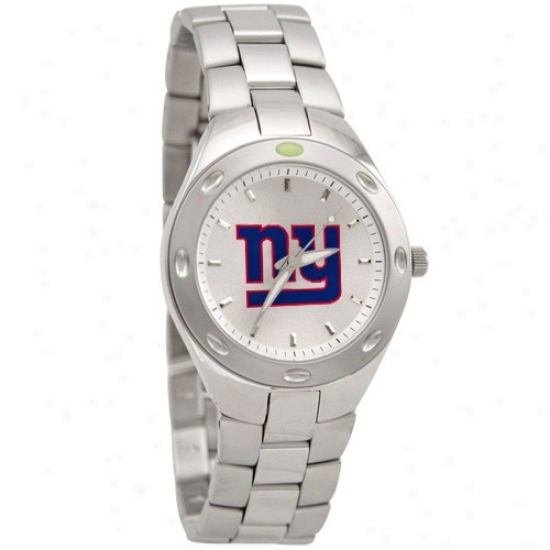 New York Monster Wrist Watch : New York Giant Men's Stainoess Steel Touchdown Wrist Watch