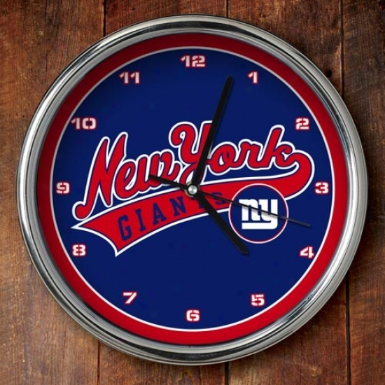 New York Giants 12'' Chrome Clock