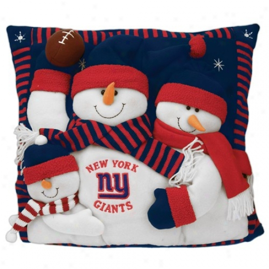 New York Giants 18-inch Snowman Family Pillow