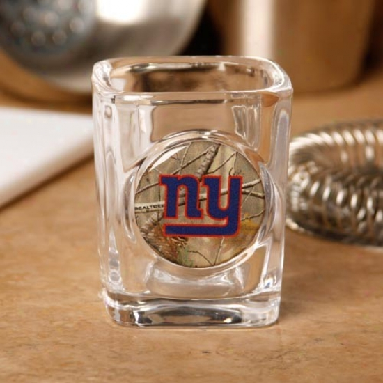 New York Giants 2 Oz. Realtree Camo Shot Glass