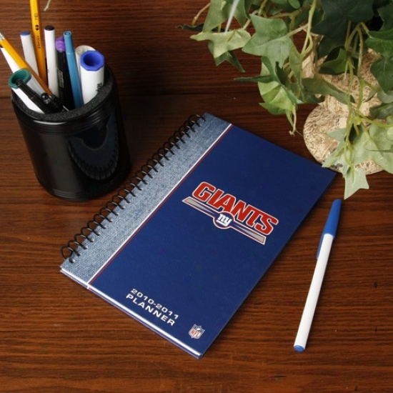 New York Giants 2010-11 5'' X 8'' Planner