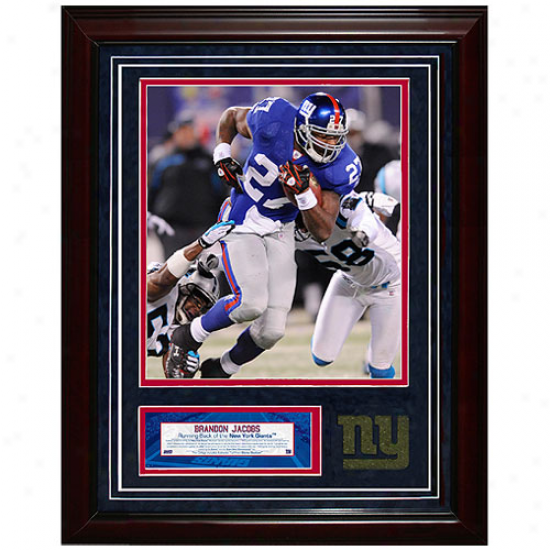 New York Giants #27 Brandon Jacobs 11'' X 14'' Unsigned Turf Collage
