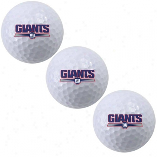 New York Giants 3-pack Of Team Logo Golf Balls