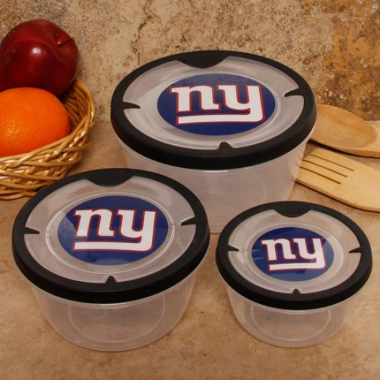 New York Giants 3-pack Round Food Containers
