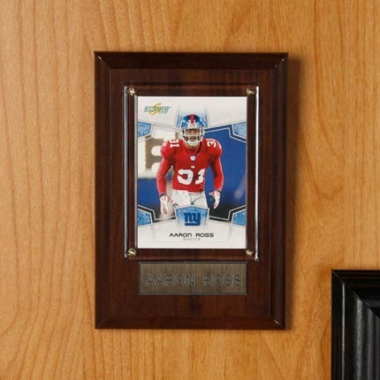 New York Giants #31 Aaron Ross 4'' X 6'' Plaque