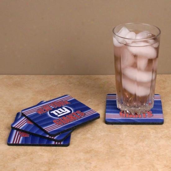 New York Giants 4-pack End Zone Neoprene Coasters