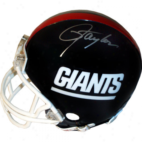 New York Giants #56 Lawrence Taylor Autographed Rixdell Mini Throwback Replica Helmet