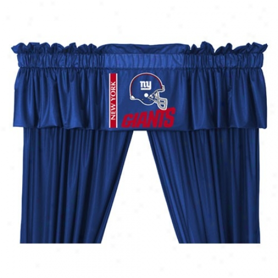 """new York Giants 88""""x14"""" Window Valance"""