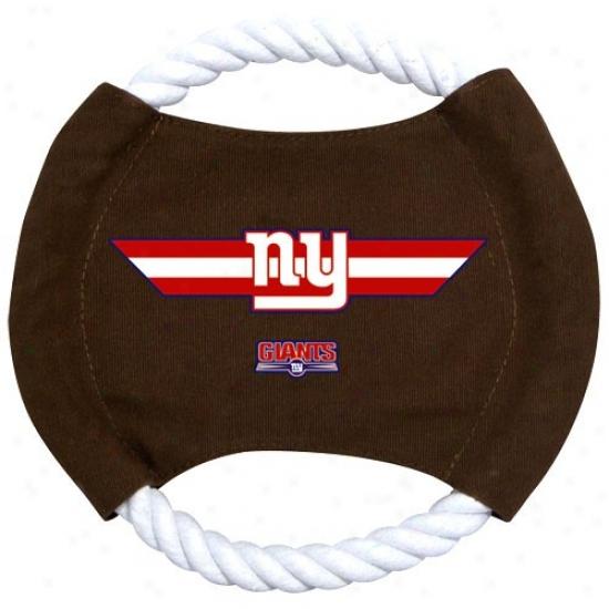 New York Giantts 9'' Flyin Rope Disk Dog Toy