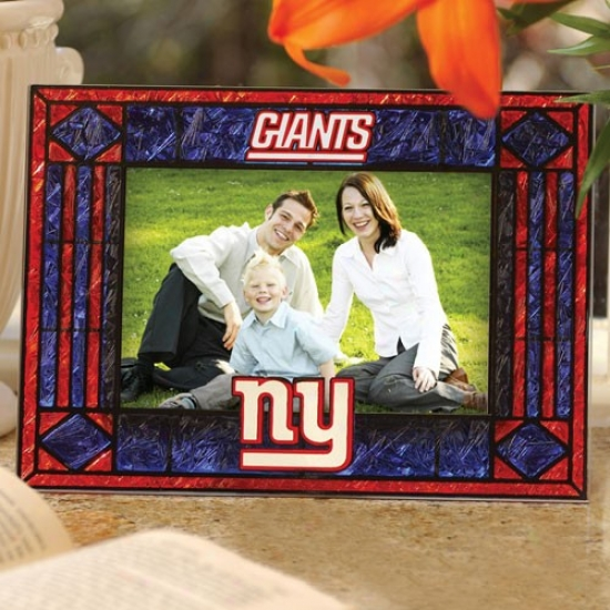 New York Giants Art-glass Horizontal Picture Frame