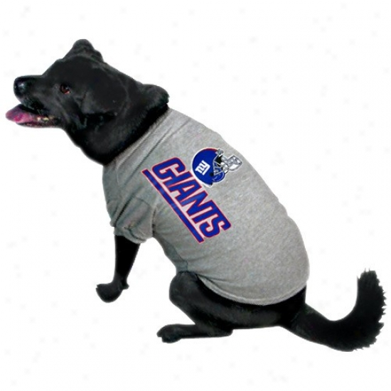 New York Giants Ash Logo Pet T-shirt