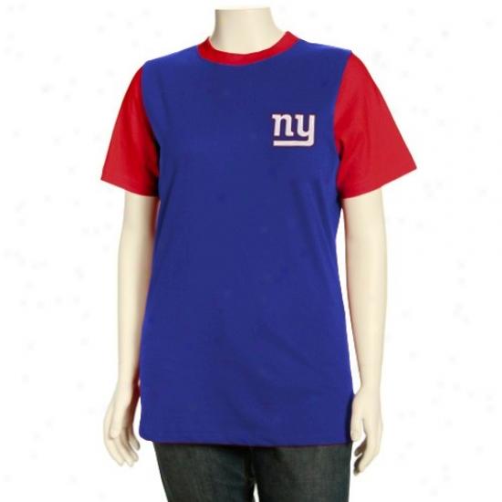 New York Giants Attire: New York Giants Missy Royal Blue Her Club Premium Ringer T-shirt