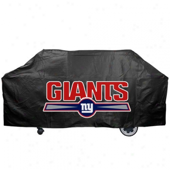 Unaccustomed York Giants Black Grill Cover