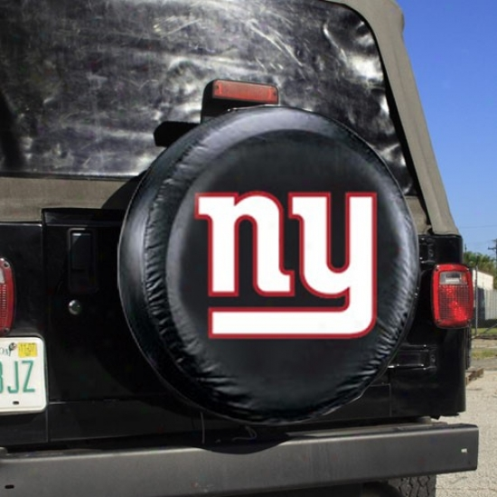 New York Giants Black Ny Tire Cover