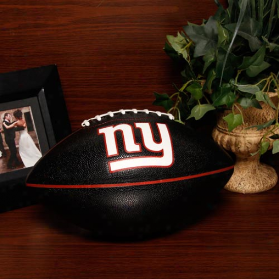 New York Giants Black Pt-6 Full Size Composite Football