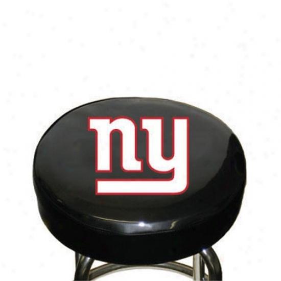 New York Giants Black Team Logo Bar Stool Cover