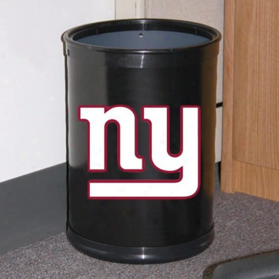 New York Gisnts Black Team Wastebasket