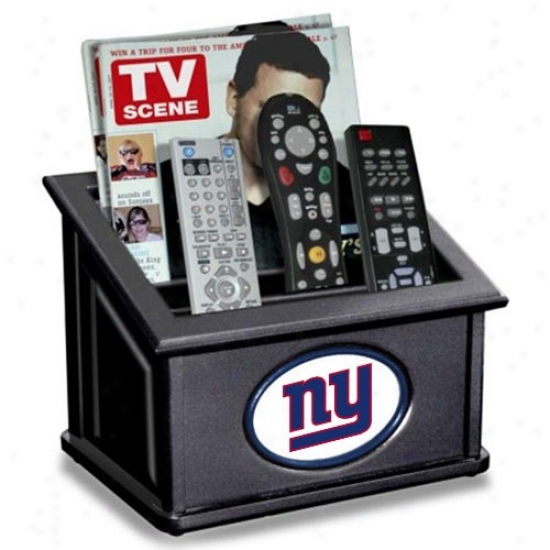 Just discovered York Giants Black Wooden Team Logo Media Organizer