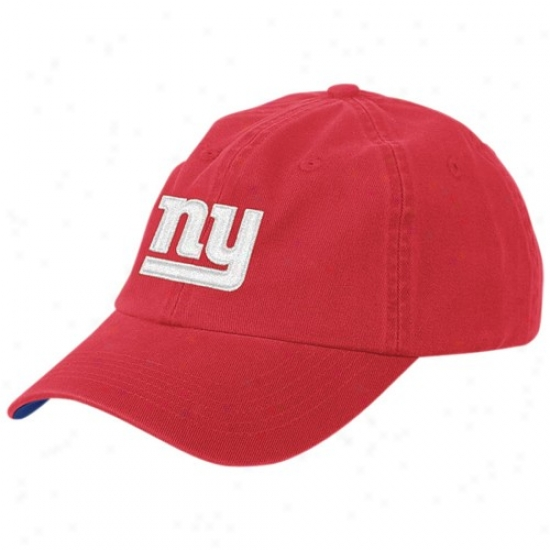 New York Giants Match : Reebok New York Giants Red Youth Basic Logo Slouch Cap