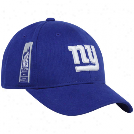 New YorkG iants Cap : Reebok New York Giants Royal Blue Inaugural Season First Game Structured Adjustable Cap