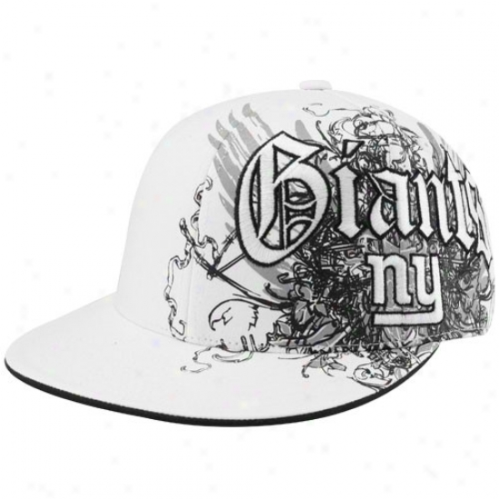 New York Giants Cap : Reebok New York Giants White Fashion Fitted Cap